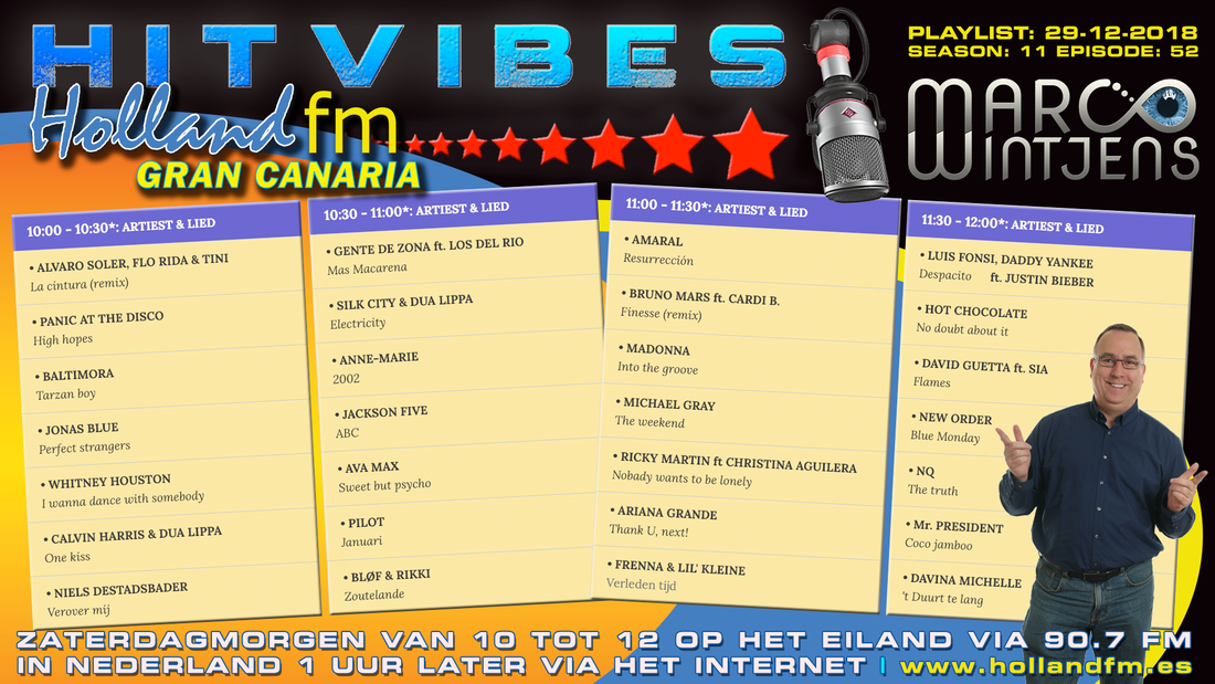 HitVibes Gran Canaria, S11E52, Marco Wintjens, Holland FM
